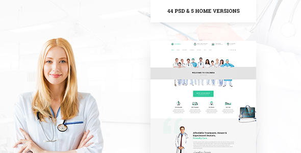 Columba - Medical PSD Template - Health & Beauty Retail