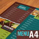 A4 Typographic Menu | All Purpose & Vegan Food - GraphicRiver Item for Sale