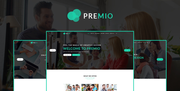 Premio – Creative Business PSD Template