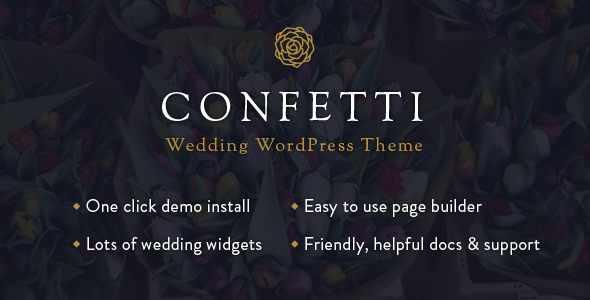 Confetti – Responsive Wedding Theme