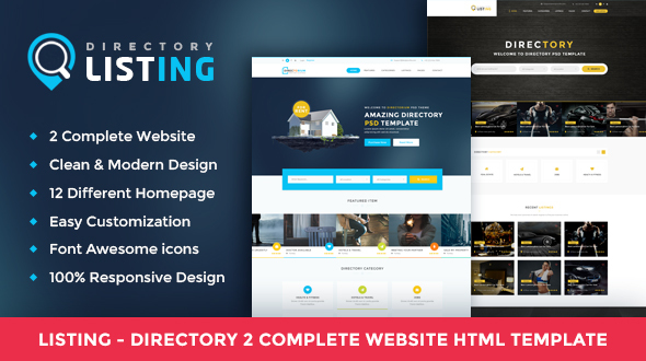 Listing – Directory Multipurpose HTML Template