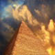 Pyramid With Golden Clouds Passing Above - VideoHive Item for Sale