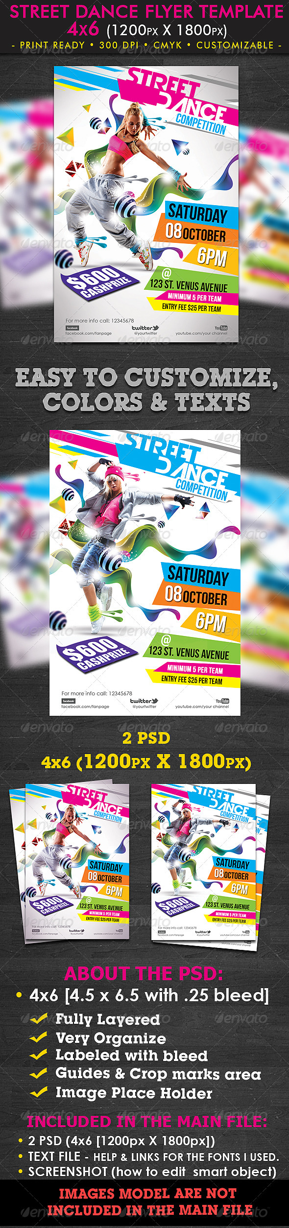 Street Dance Flyer Template - Clubs & Parties Events