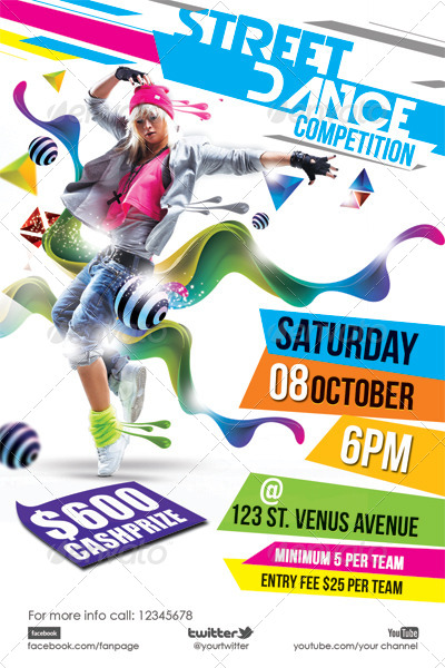 Street Dance Flyer Template By Hermz Graphicriver