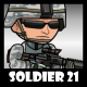 Soldier Character 21 - GraphicRiver Item for Sale