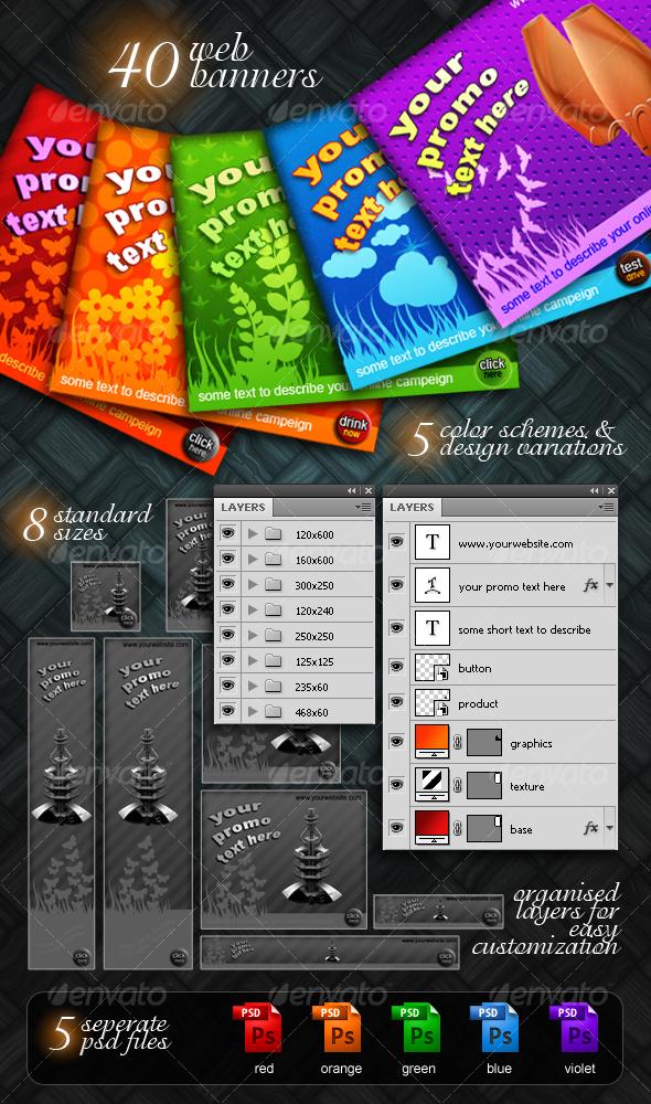 decorative web banner pack - Web Elements