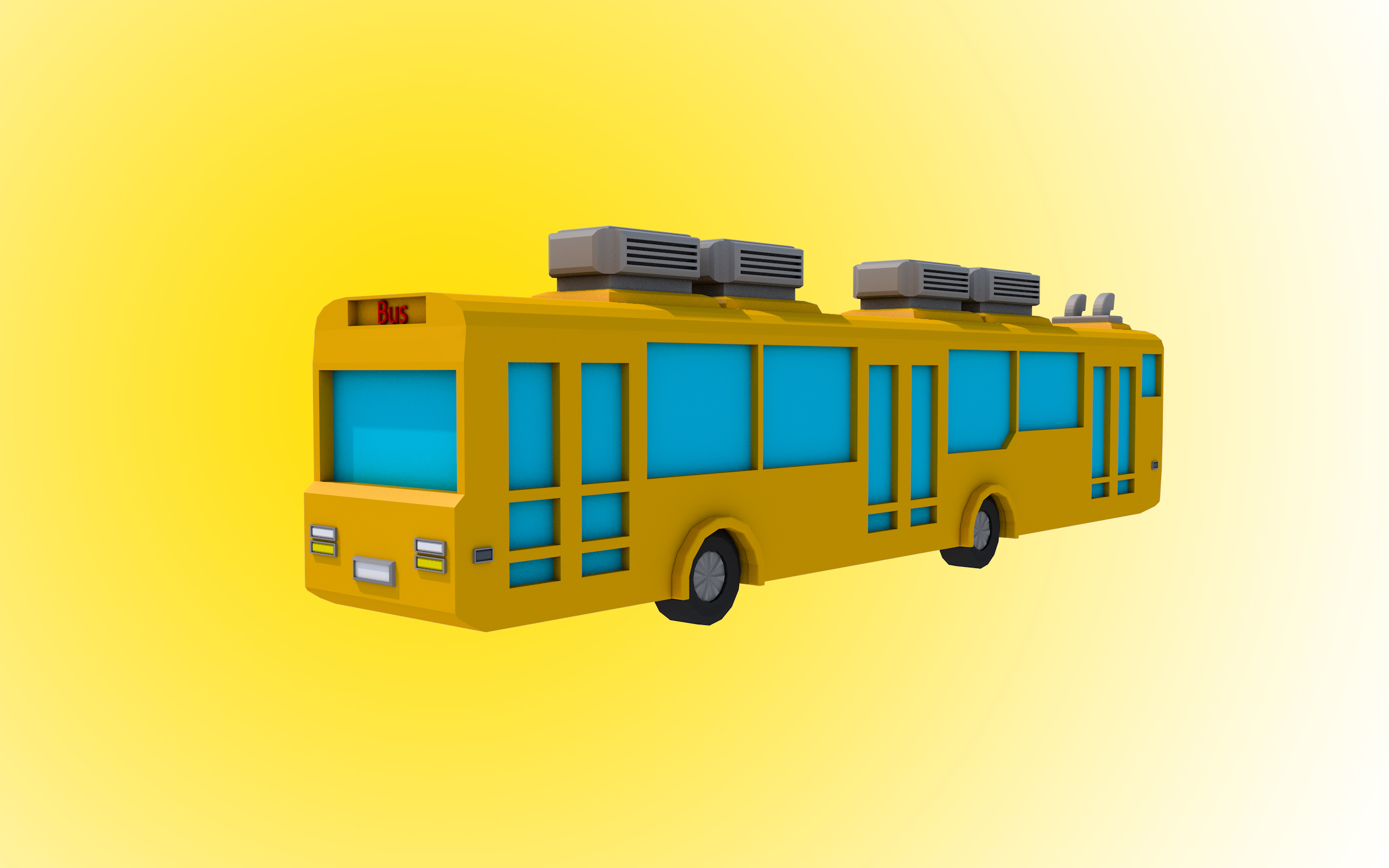 Low Poly Bus