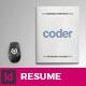 Coder - Portfolio and Resume - GraphicRiver Item for Sale