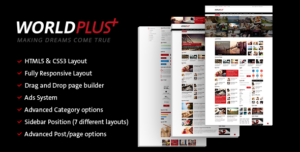 WorldPlus – Responsive News and Magazine WordPress