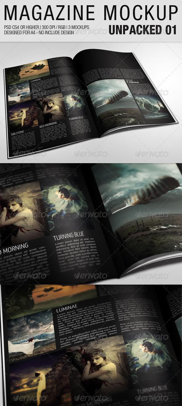 Magazine Mockup Unpacked 01 - Magazines Print