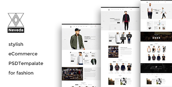 NEVEDA – Stylish PSD Template for Fashion Webshop