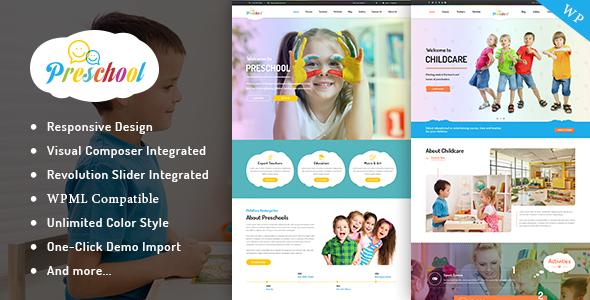 15+ Kindergarten and Elementary School WordPress Themes 2019 14