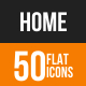 Home Flat Round Icons