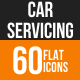 Car Servicing Flat Round Icons - GraphicRiver Item for Sale