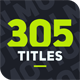 305 Titles Ultimate Pack - VideoHive Item for Sale