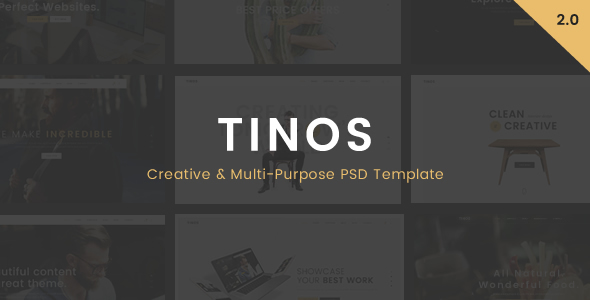 Tinos - Multi-Purpose PSD Template - Corporate PSD Templates