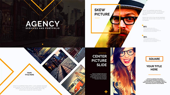 Orange presentation template by clean promo videohive for Company profile after effects templates free download