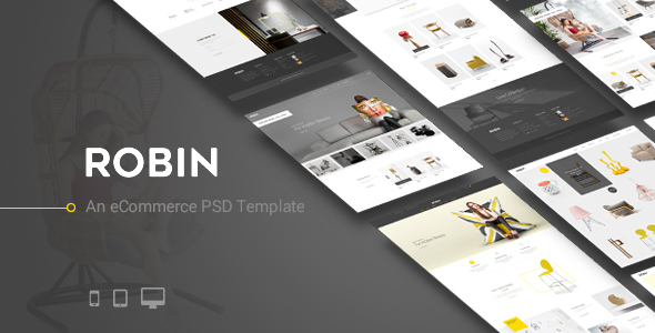 Robin - An eCommerce PSD Template - Retail PSD Templates