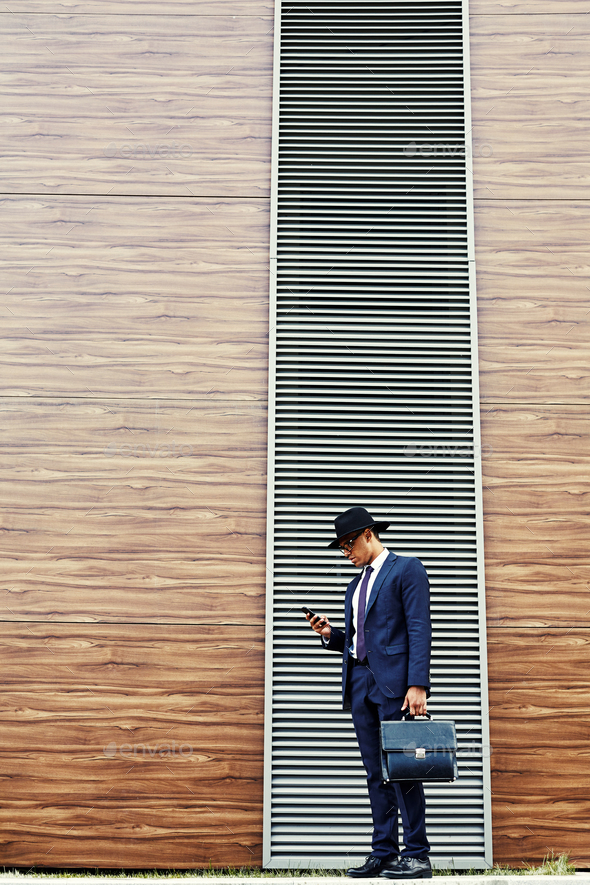 Businessman outdoors - Stock Photo - Images
