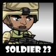 Soldier Character 23 - GraphicRiver Item for Sale