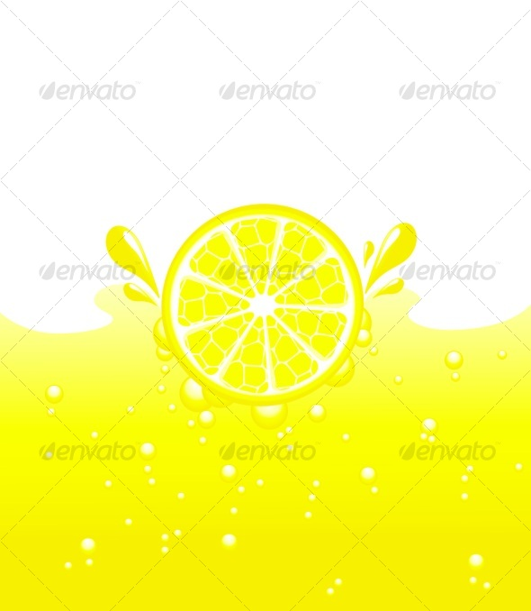vector illustration of lemon - Food Objects