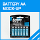 Battery AA Mock-up - GraphicRiver Item for Sale