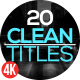 Clean Titles Pack - VideoHive Item for Sale