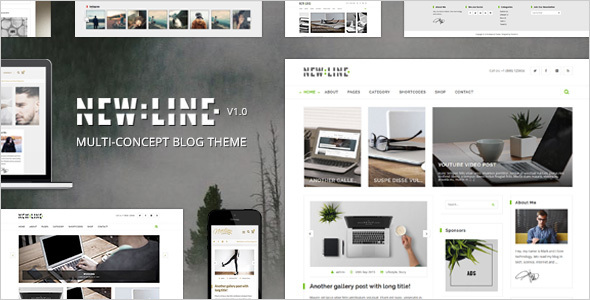 NewLine – Multi-Concept WordPress Blog Theme + RTL