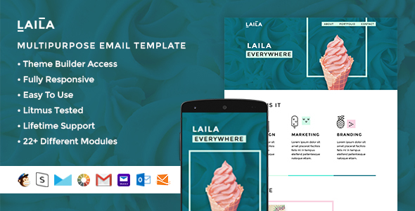 Laila – Responsive Email + StampReady Builder
