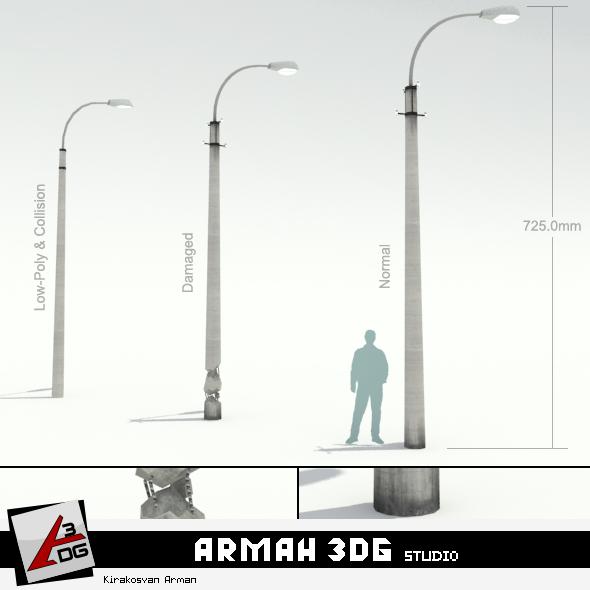 Road lights - 3DOcean Item for Sale
