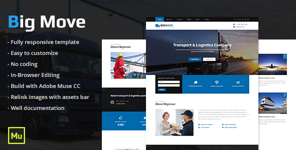 Big Move – Responsive Transport & Logistics Template