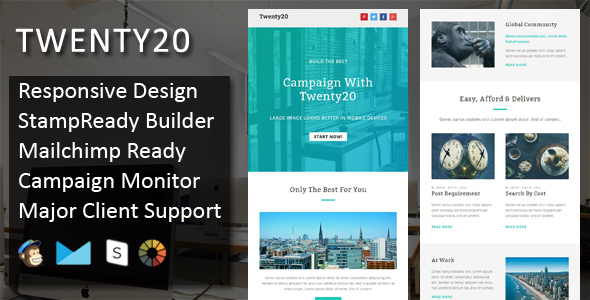Twenty20 - Multipurpose Responsive Email Template - Email Templates Marketing