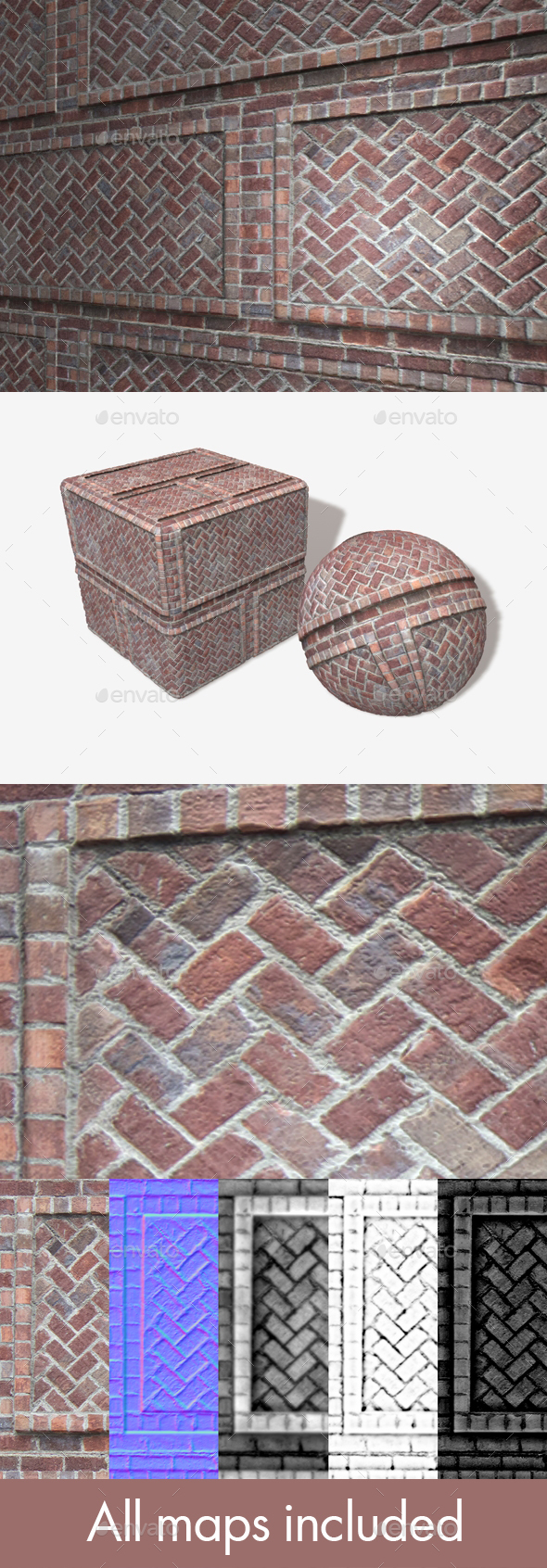 Brick Decoration Seamless Texture - 3DOcean Item for Sale