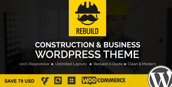 ReBuild – WP Construction & Building Business Theme