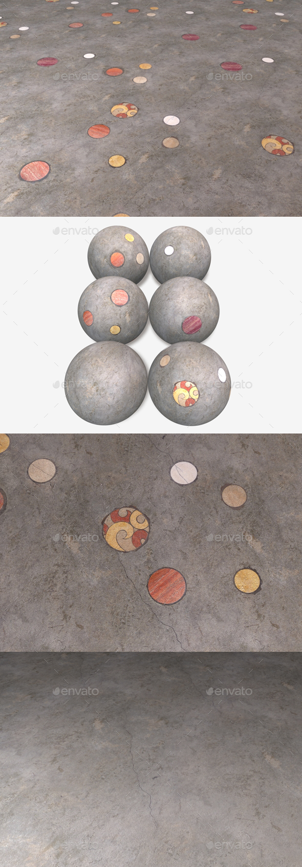 6 Cosmic Concrete Flooring Textures - 3DOcean Item for Sale