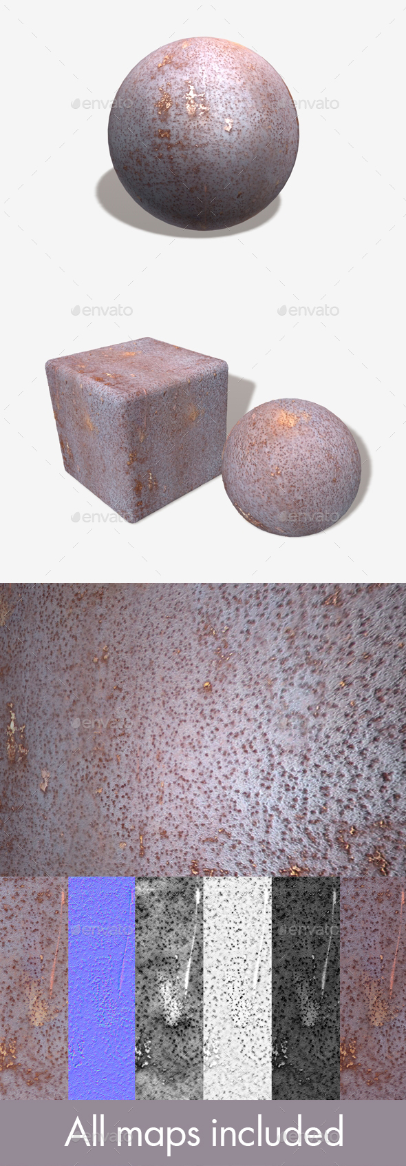 Old Metal Rust Seamless Texture - 3DOcean Item for Sale