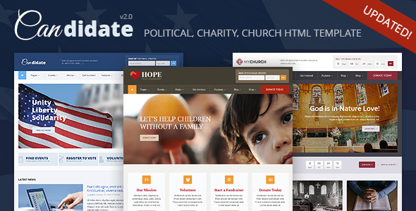 Candidate – Political/Nonprofit/Church HTML Theme