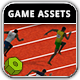 100 Metres Race - Game Assets - GraphicRiver Item for Sale