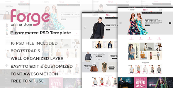 Forge – eCommerce PSD Template