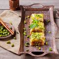 Turkish pistachio and phyllo pastry dessert, baklava