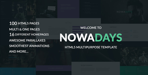 NowaDays – Multipurpose One/Multipage Creative Agency HTML5 Template