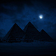 Pyramids At Night With Moon Above - VideoHive Item for Sale