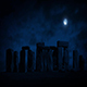 Stonehenge At Night With Full Moon - VideoHive Item for Sale