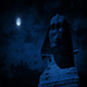The Sphinx Statue At Night With Moon - VideoHive Item for Sale