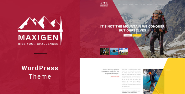 Maxigen – Hiking & Outdoor WordPress Theme