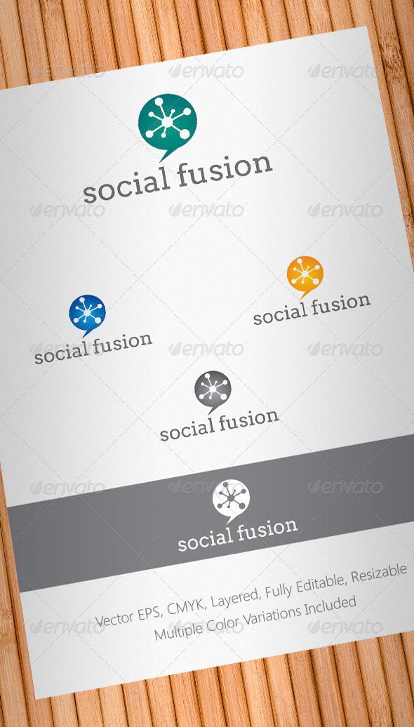 Social Fusion Logo Template - Abstract Logo Templates