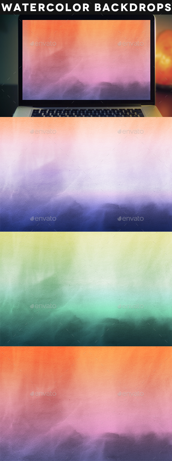 Colorful Watercolor Background - Abstract Backgrounds