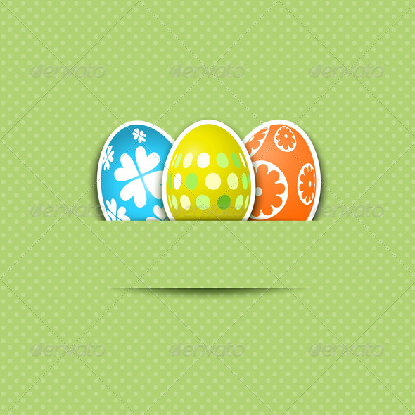 Cute Easter Egg Background - Seasons/Holidays Conceptual
