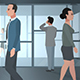 Cartoon Corporate / Business People Walking Through A Corridor - VideoHive Item for Sale