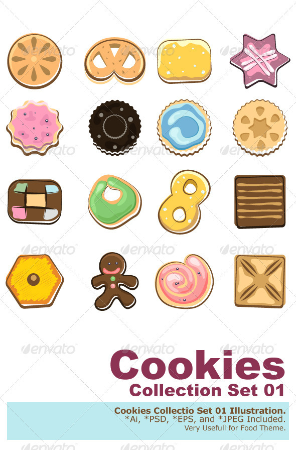 Doodle Cookies - Food Objects